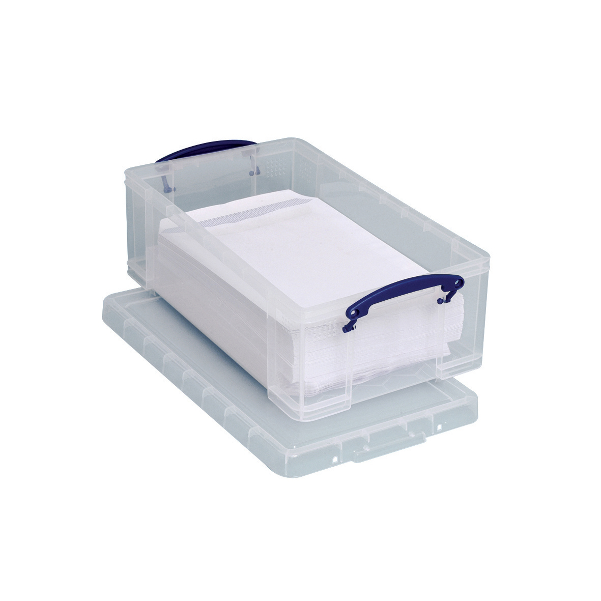 Tool Boxes Really Useful Storage Box Plastic Lightweight Robust Stackable 12 Litre W270xD465xH155mm Clear Ref 12C