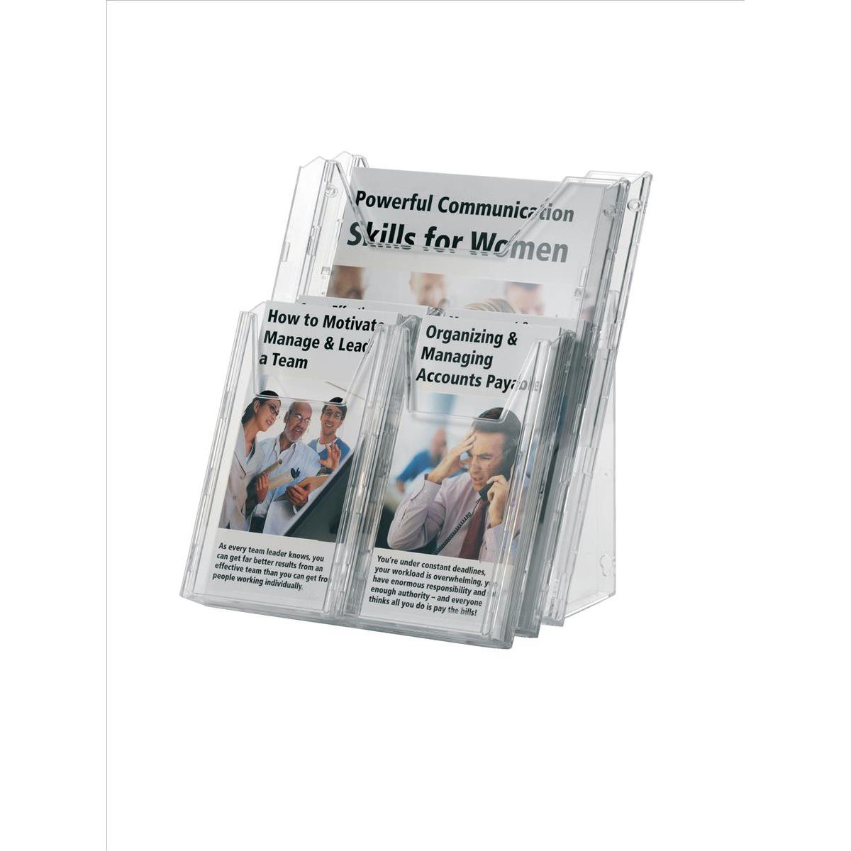 Durable Combiboxx Literature Holder Extendable A4 Clear Ref 8580/19 Pack 3