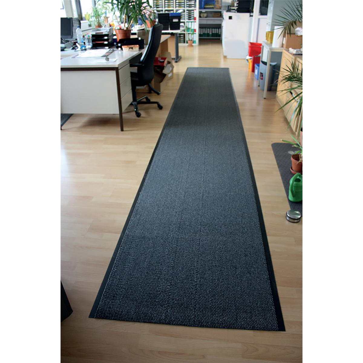 Doortex Advantagemat Mat on Roll Anti-slip Polypropylene 900x6000mm Anthracite Ref FC490600PPMR