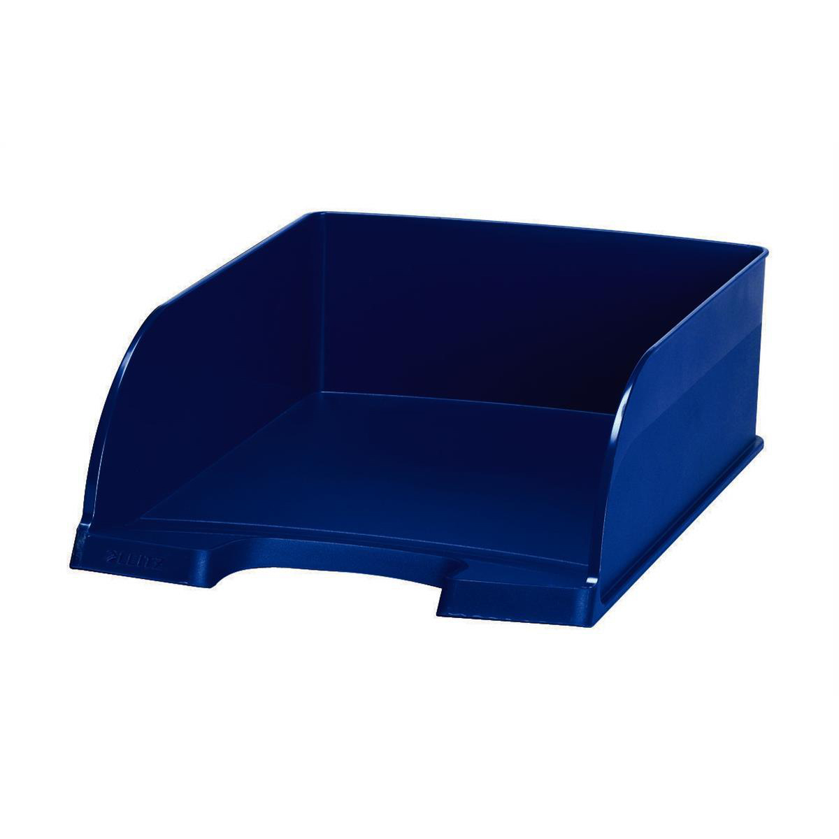 Leitz Letter Tray Jumbo Deep Sided with 2 Label Positions Blue Ref 52330035