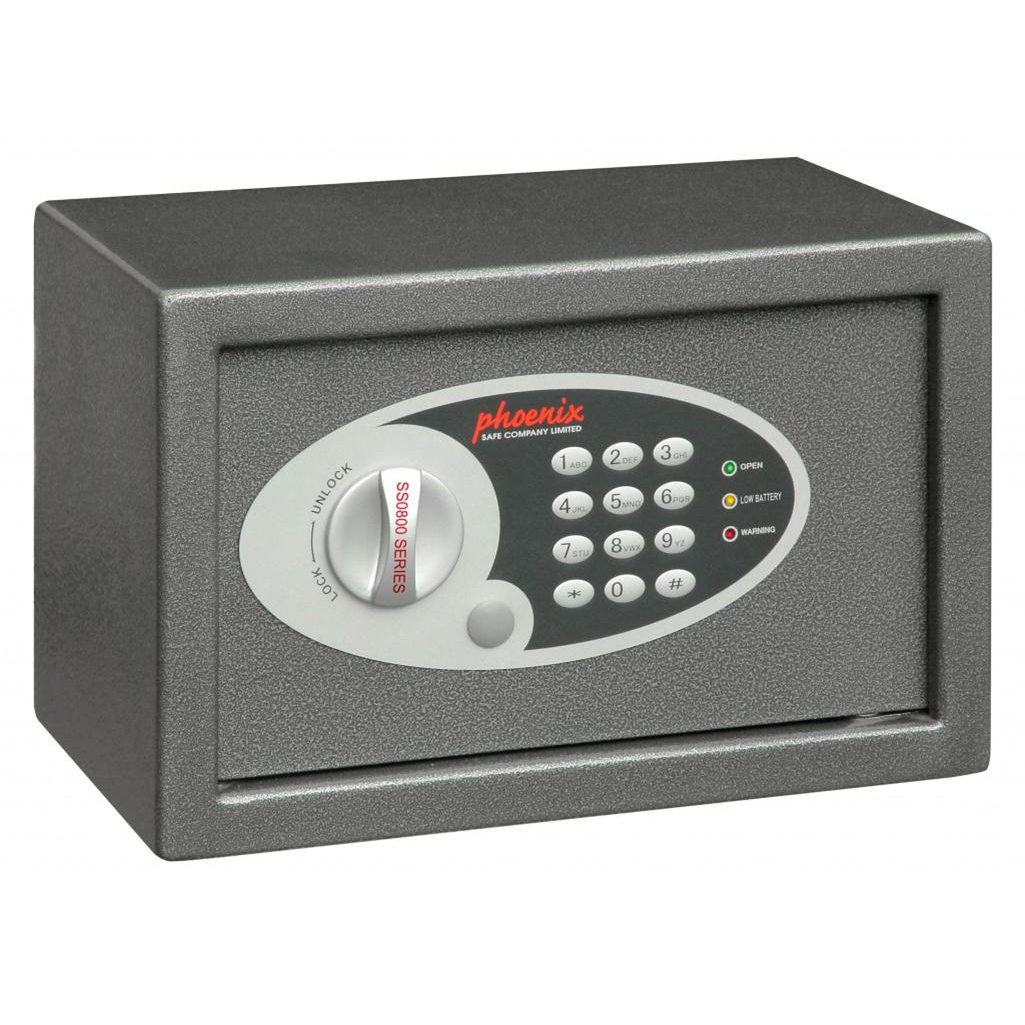Safes Phoenix Compact Safe Home or Office Electronic Lock 10L Capacity 6kg W310xD200xH200mm Ref SS0801E