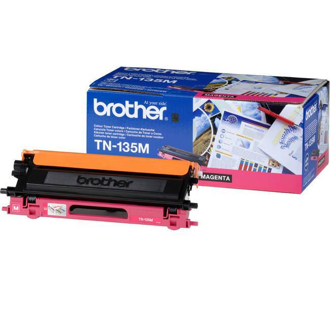 Brother Laser Toner Cartridge Page Life 4000pp Magenta Ref TN135M
