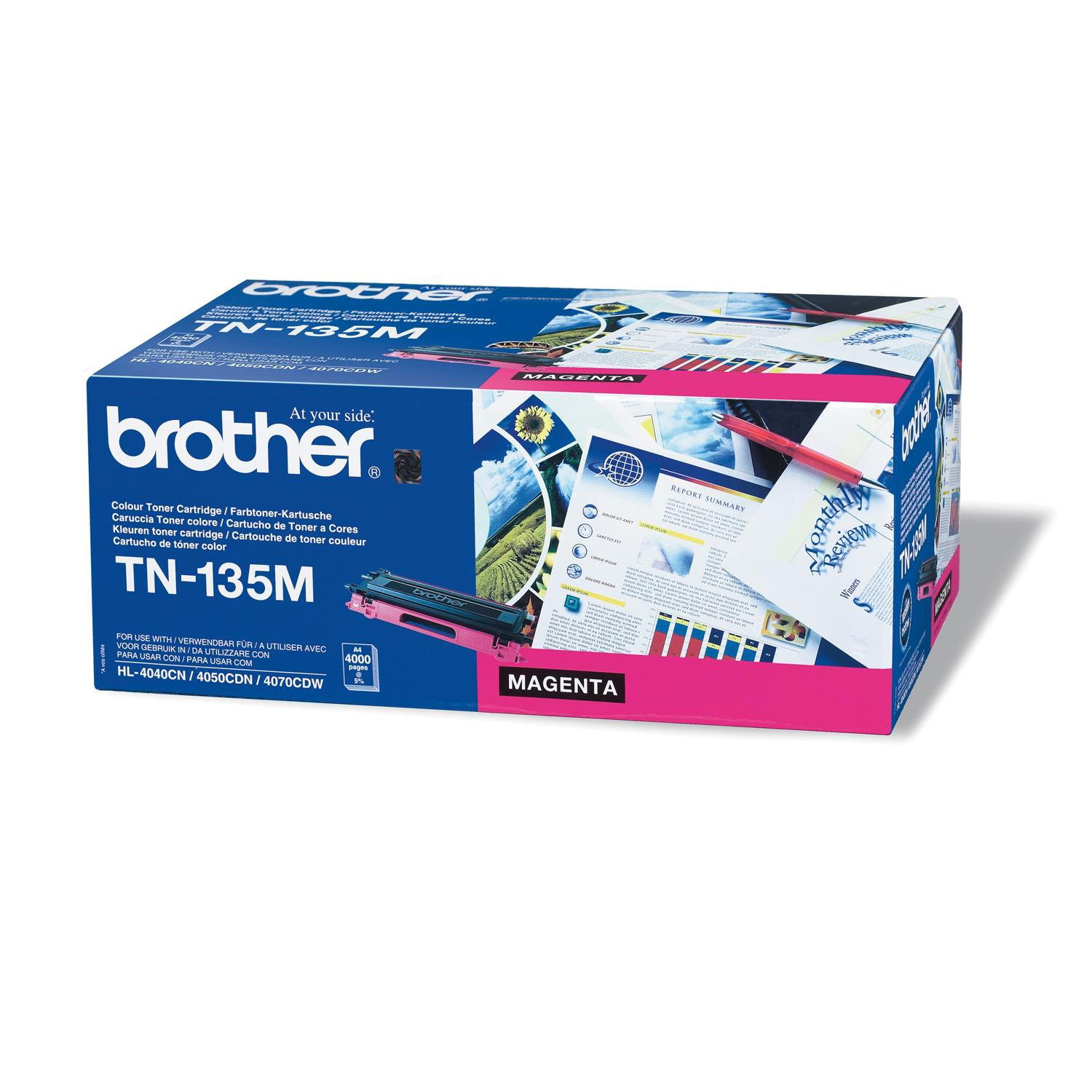 Brother Laser Toner Cartridge Page Life 4000pp Magenta Ref TN135M