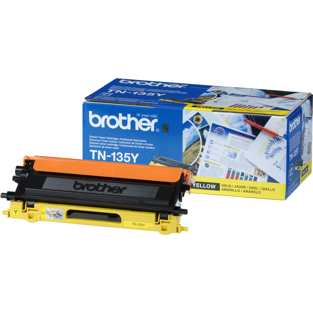 Brother Laser Toner Cartridge Page Life 4000pp Yellow Ref TN135Y