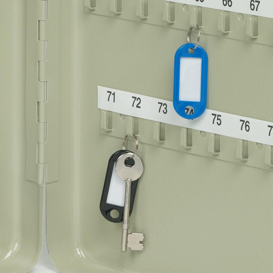 Key Cabinet Steel Lockable With Wall Fixings Holds 80 Keys Grey