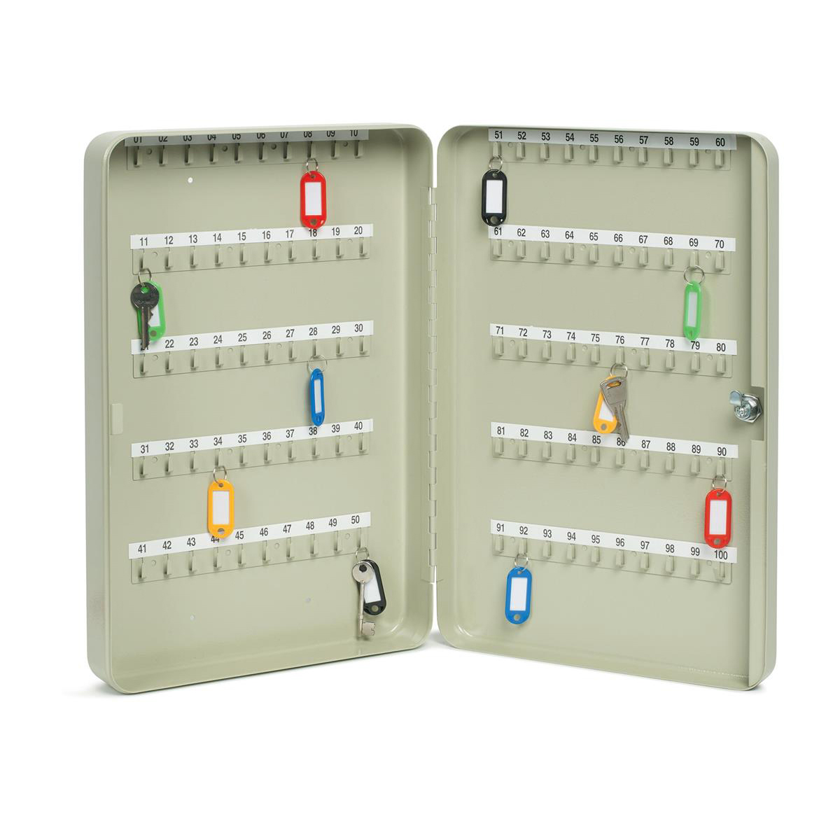 Key Cabinet Steel Lockable With Wall Fixings Holds 100 Key