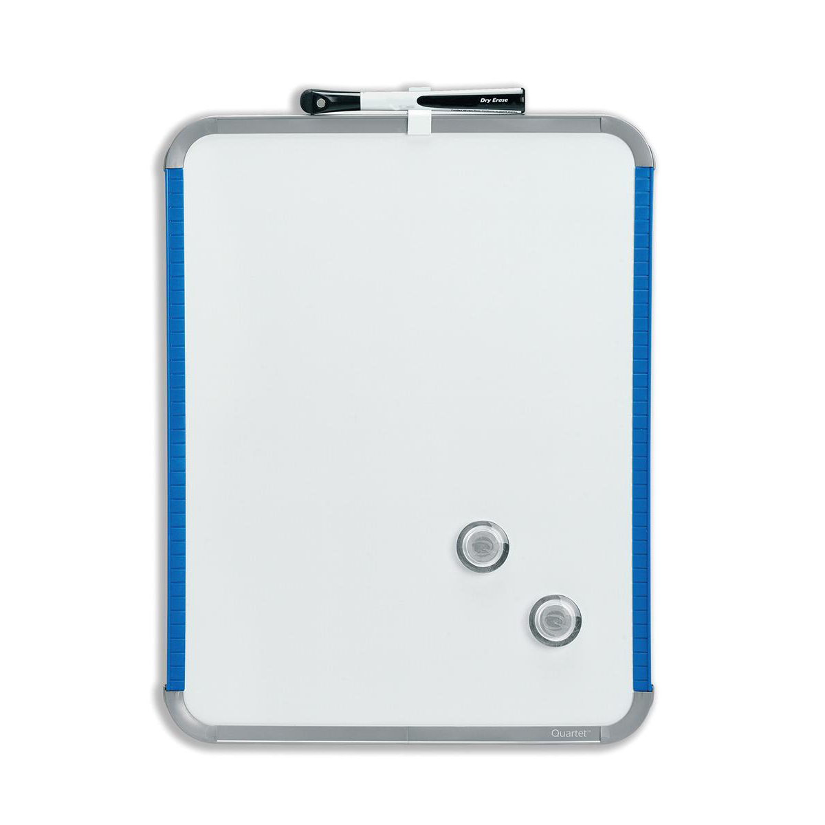 Image for Nobo SlimLine Drywipe Board Magnetic with Pen and Eraser 220x14x280mm White and Blue Ref QB05142AS
