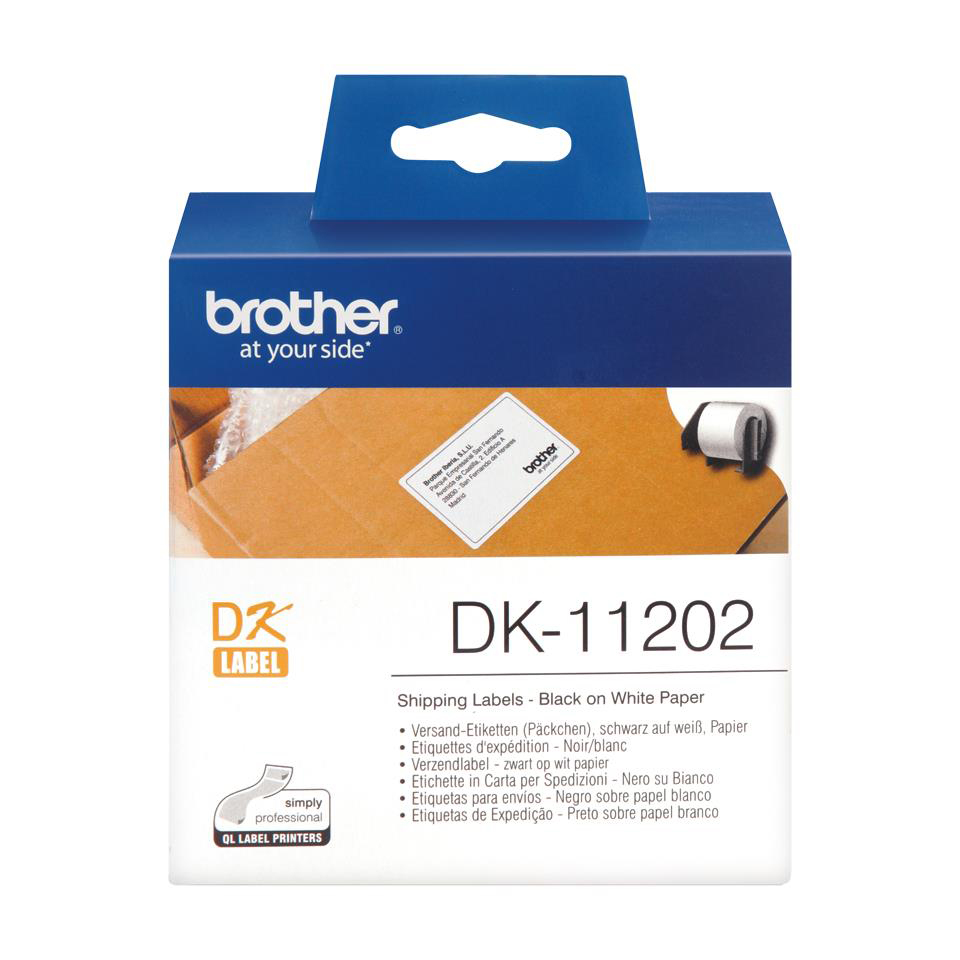 Labelling Tapes & Labels Brother Label Shipping 62x100mm White Ref DK11202 Roll of 300
