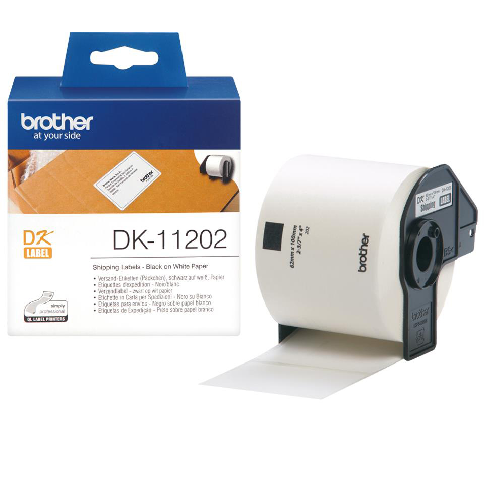 Brother Label Shipping 62x100mm White Ref DK11202 [Roll of 300]