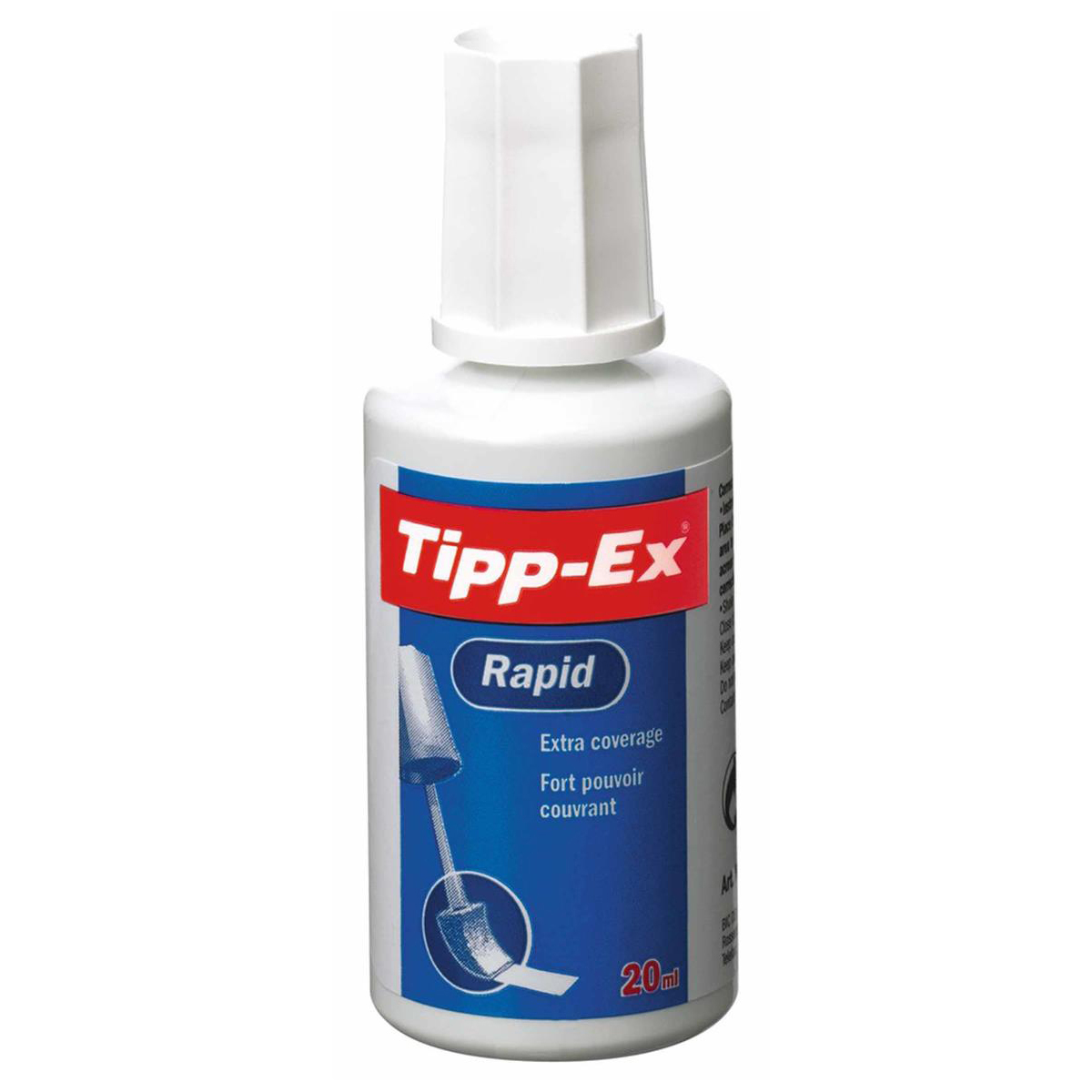 Tipp-Ex Rapid Correction Fluid Fast-drying with Foam Applicator 20ml White Ref 885992 Pack 10