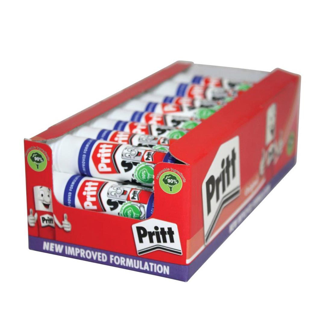 Pritt Stick Glue Solid Washable Non-toxic Standard 11gm Ref 1564149 [Pack 100] [Bulk Pack] Jan-Dec 2019