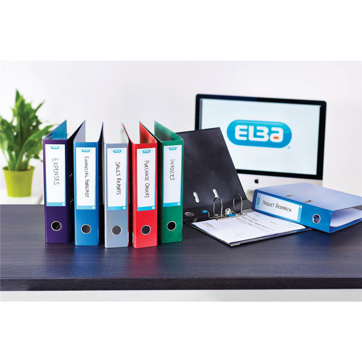 Elba Lever Arch File Laminated Gloss Finish 70mm Capacity A4+ Red Ref 400021004 [5 For 4] Jan-Dec 2018