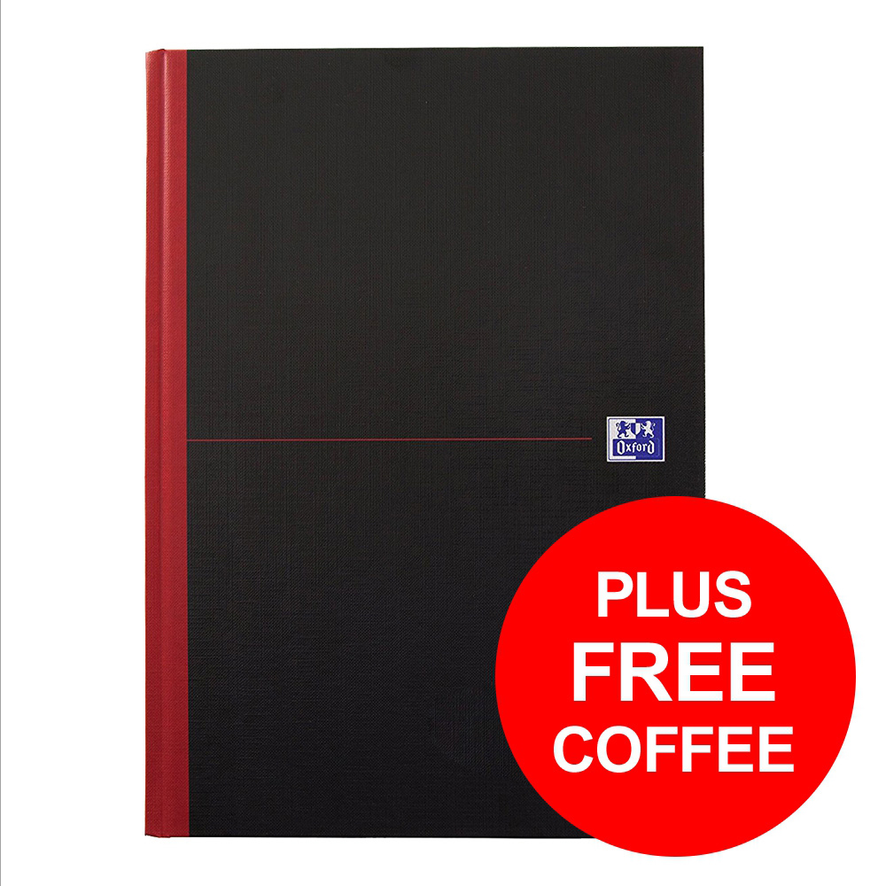 Black n Red Book Hard Back Cover Twin Wirebound 90gsm 140pp B5 [Free Coffee] Jan-Dec 2018