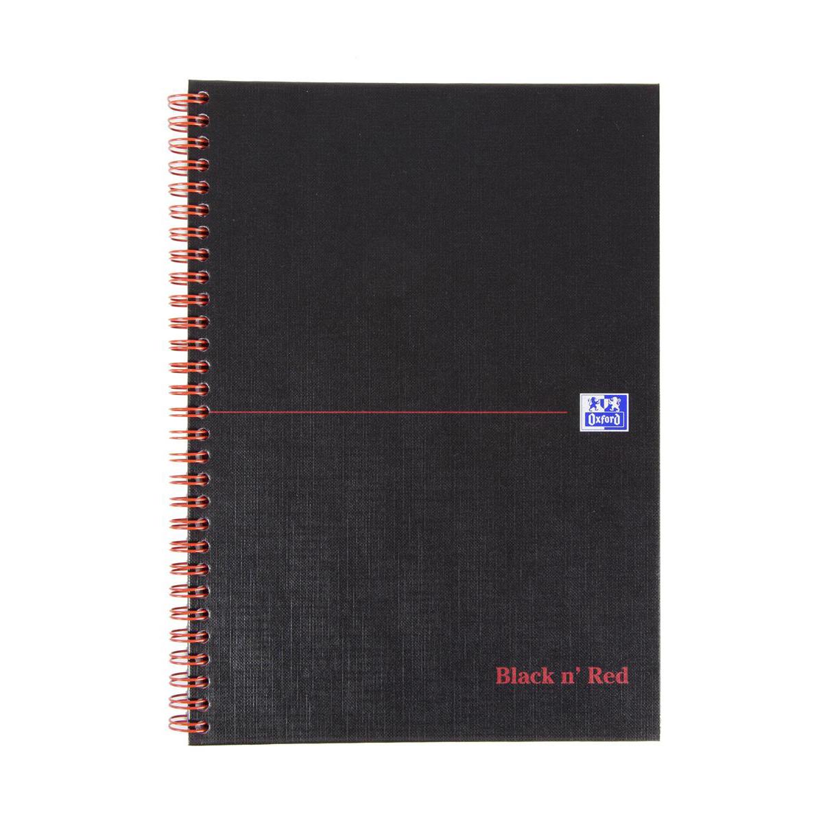 Black n Red Book Hard Back Cover Twin Wirebound 90gsm 140pp B5 FREE Coffee Jan-Feb 2019
