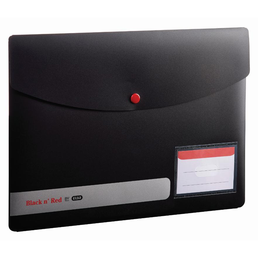 Black n Red by Elba Stud Wallet PP A4 Ref 400051532 [2 For 1] Jan-Dec 2019