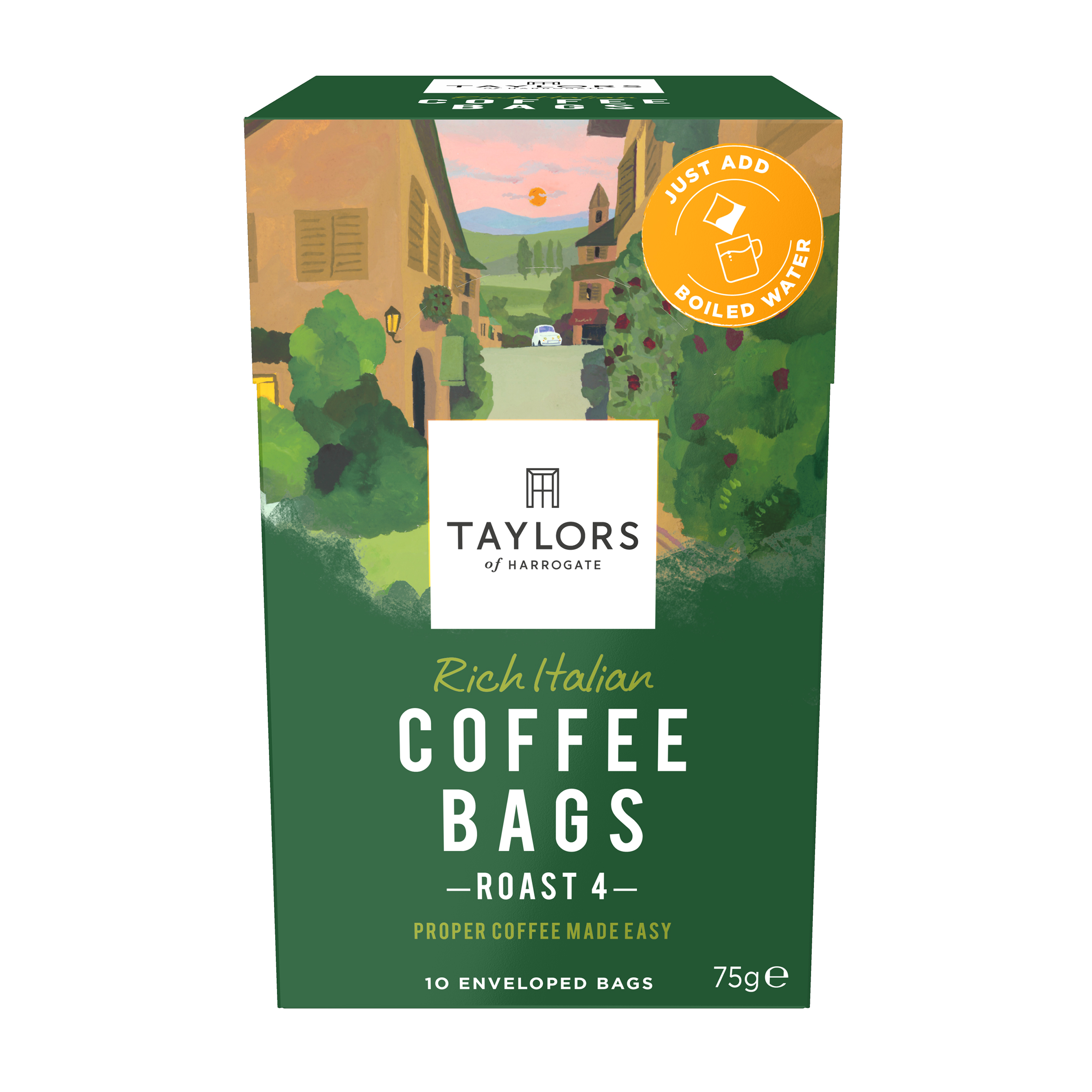 Coffee Taylors Rich Italian Coffee Bags Ref 0403390 Pack 10