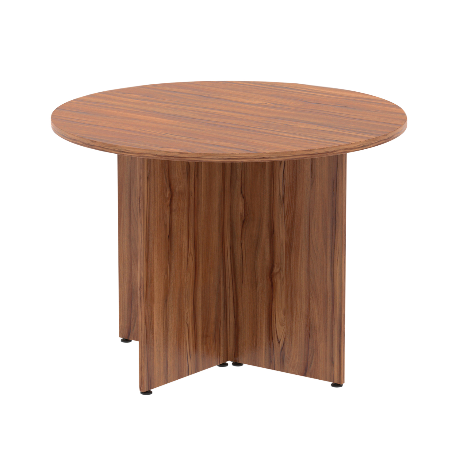 Trexus Circular Table 1200mm Arrowhead Walnut Ref MI002926