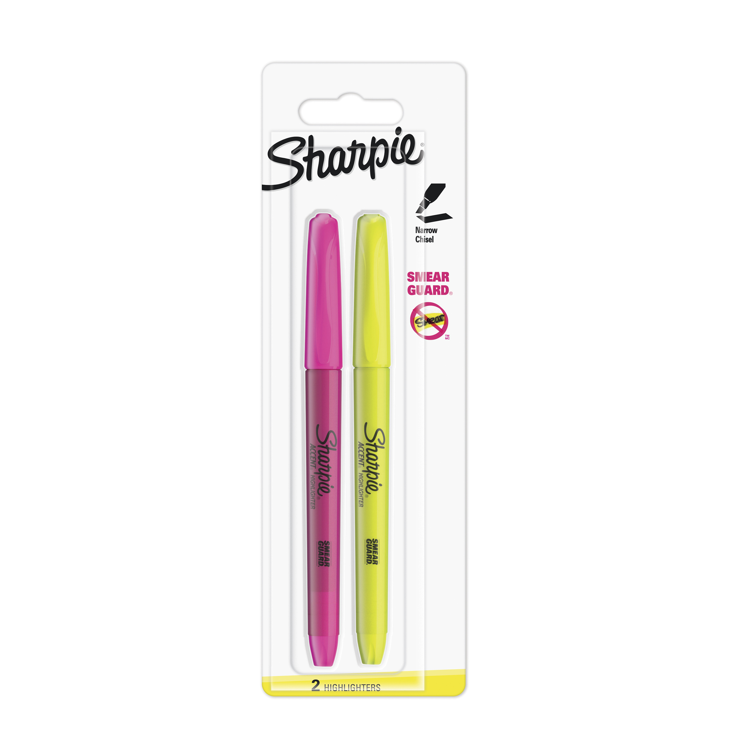 Sharpie Accent Pocket Highlighters Chisel Tip Assorted Fluorescent Ref S0907190 Pack 2