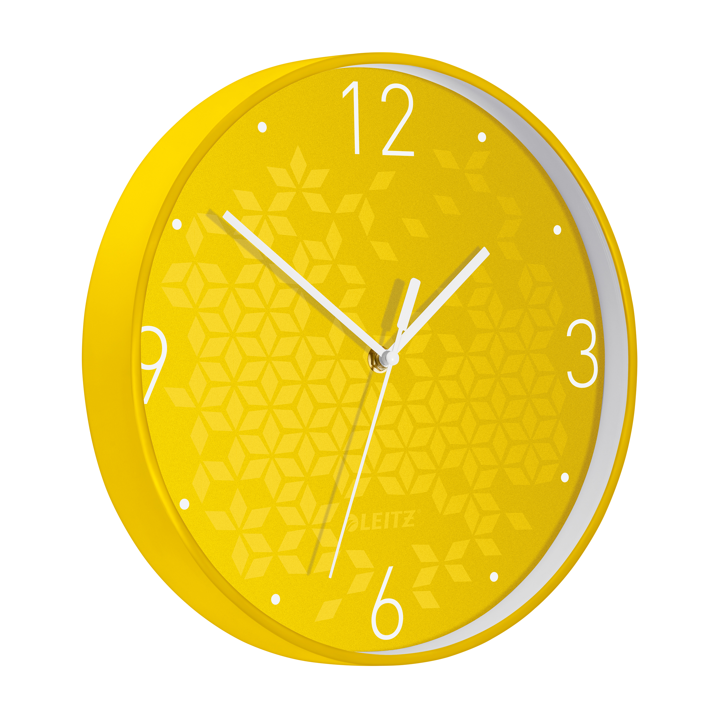 Leitz WOW Wall Clock 291x291x43mm Yellow Ref 90150016