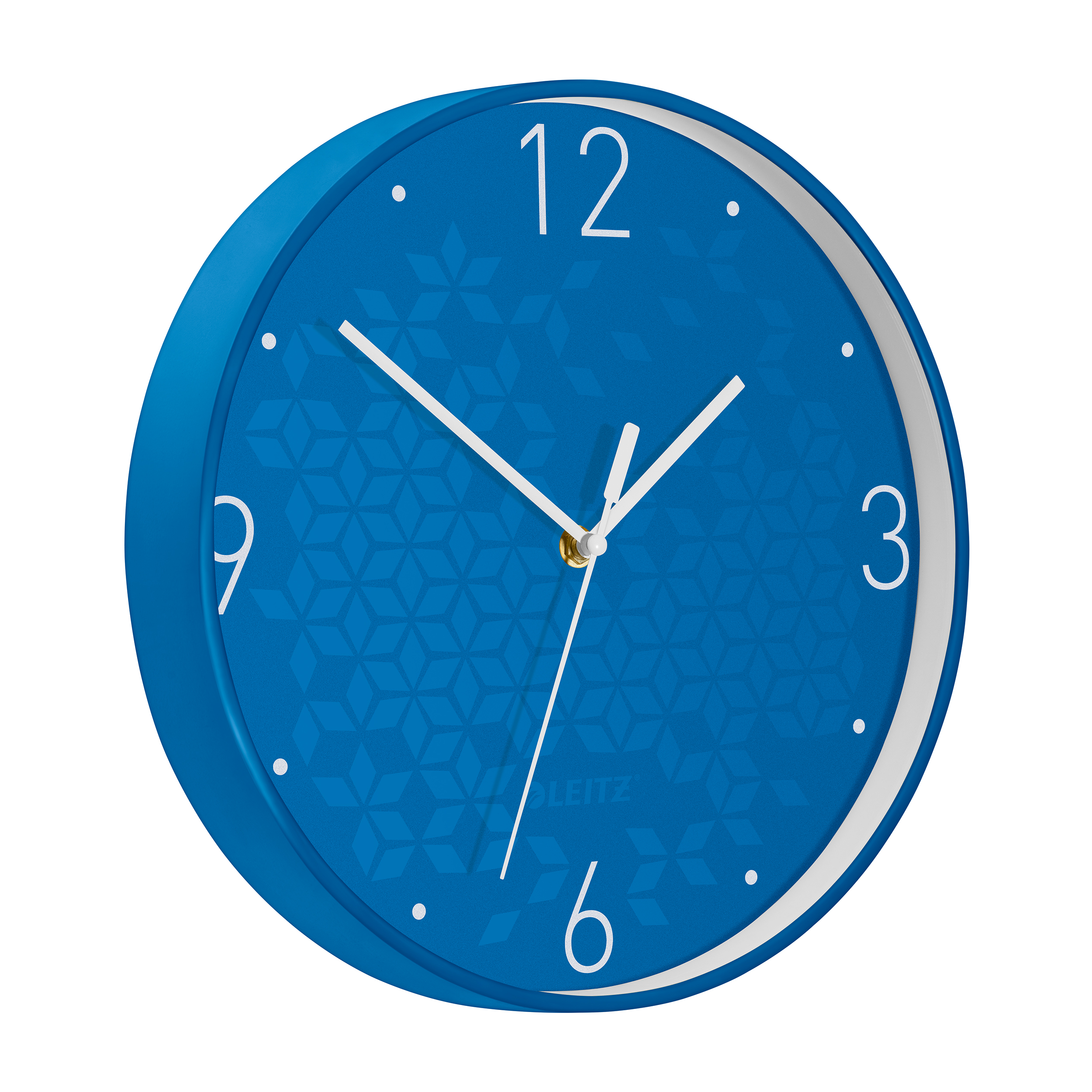 Leitz WOW Wall Clock 291x291x43mm Blue Ref 90150036