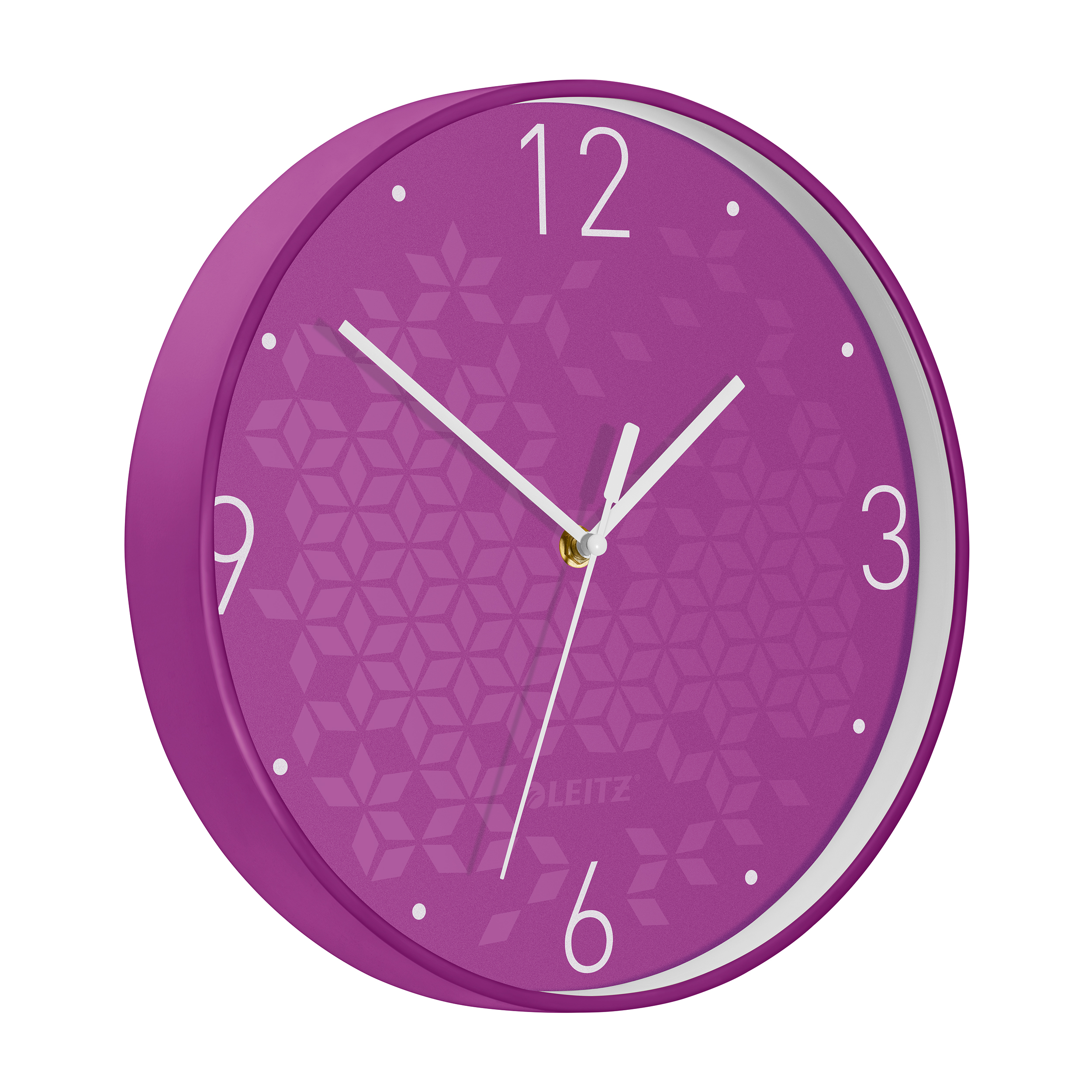 Leitz WOW Wall Clock 291x291x43mm Purple Ref 90150062