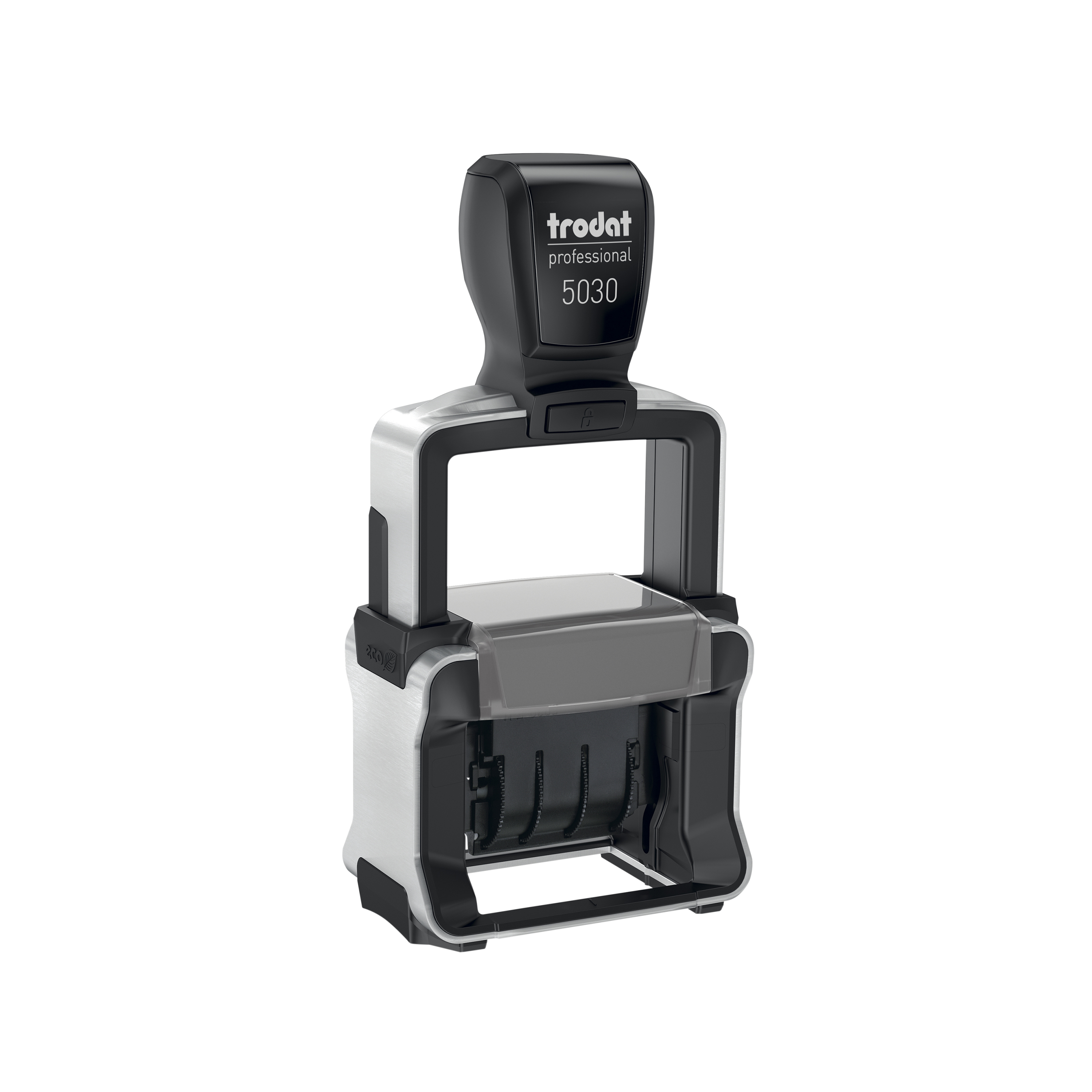 Trodat Professional 5030 Dater Stamp Metal Frame Self-inking 24x4mm Ref 120193
