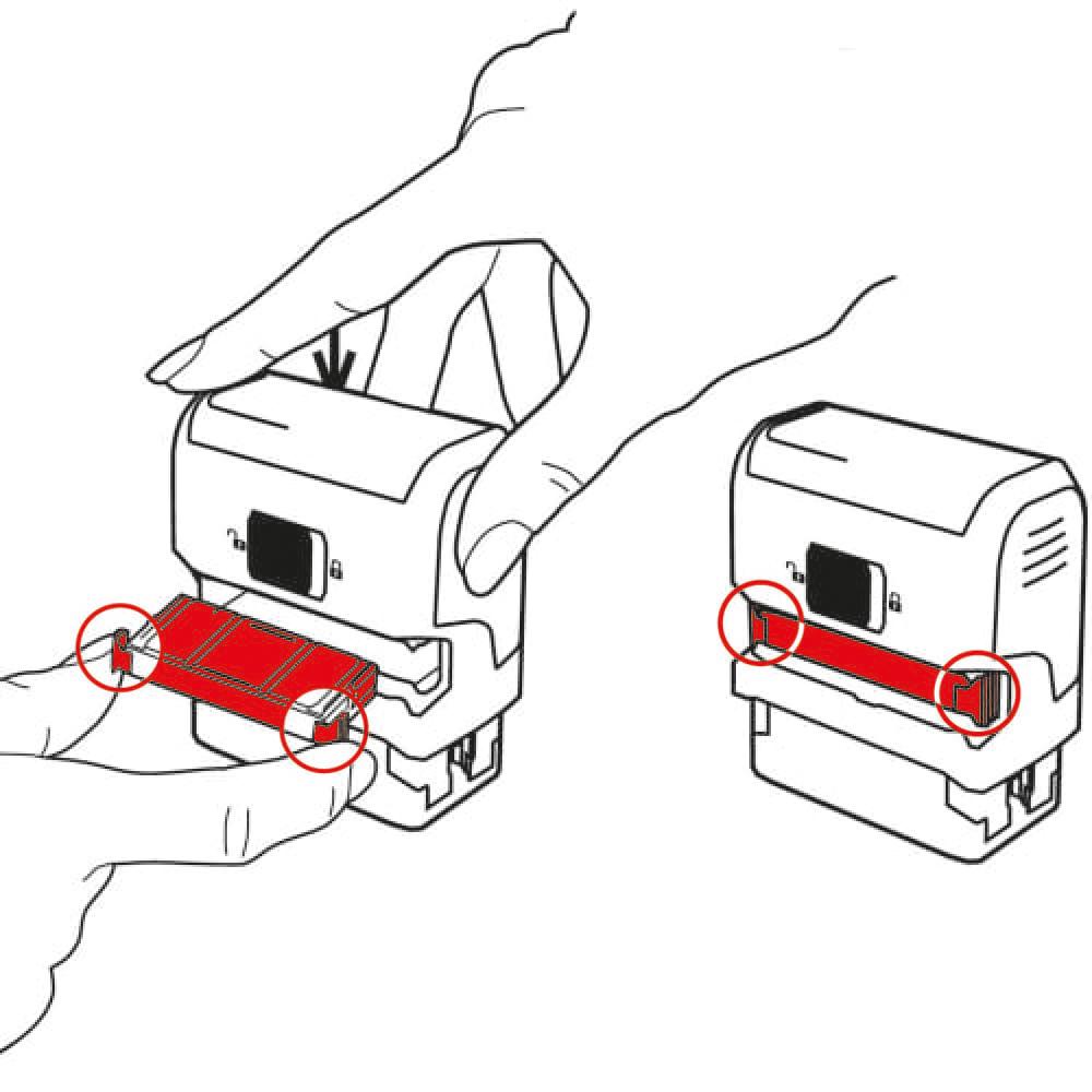 Trodat 6/4912 Replacement Ink Cartridge Pad for Custom Stamp Black Ref 78251 Pack 2