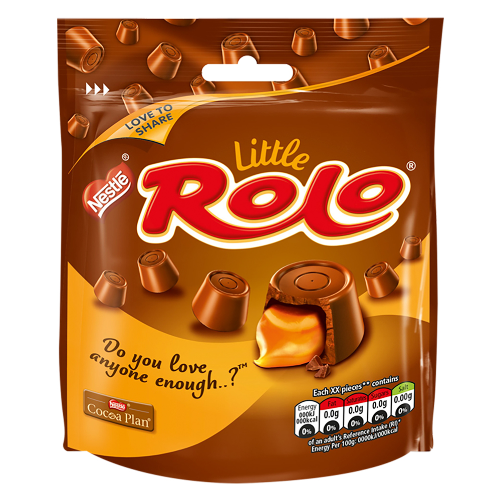Sweets / Chocolate Nestle Rolo Milk Chocolate Sharing Pouch 103g Ref 12379555