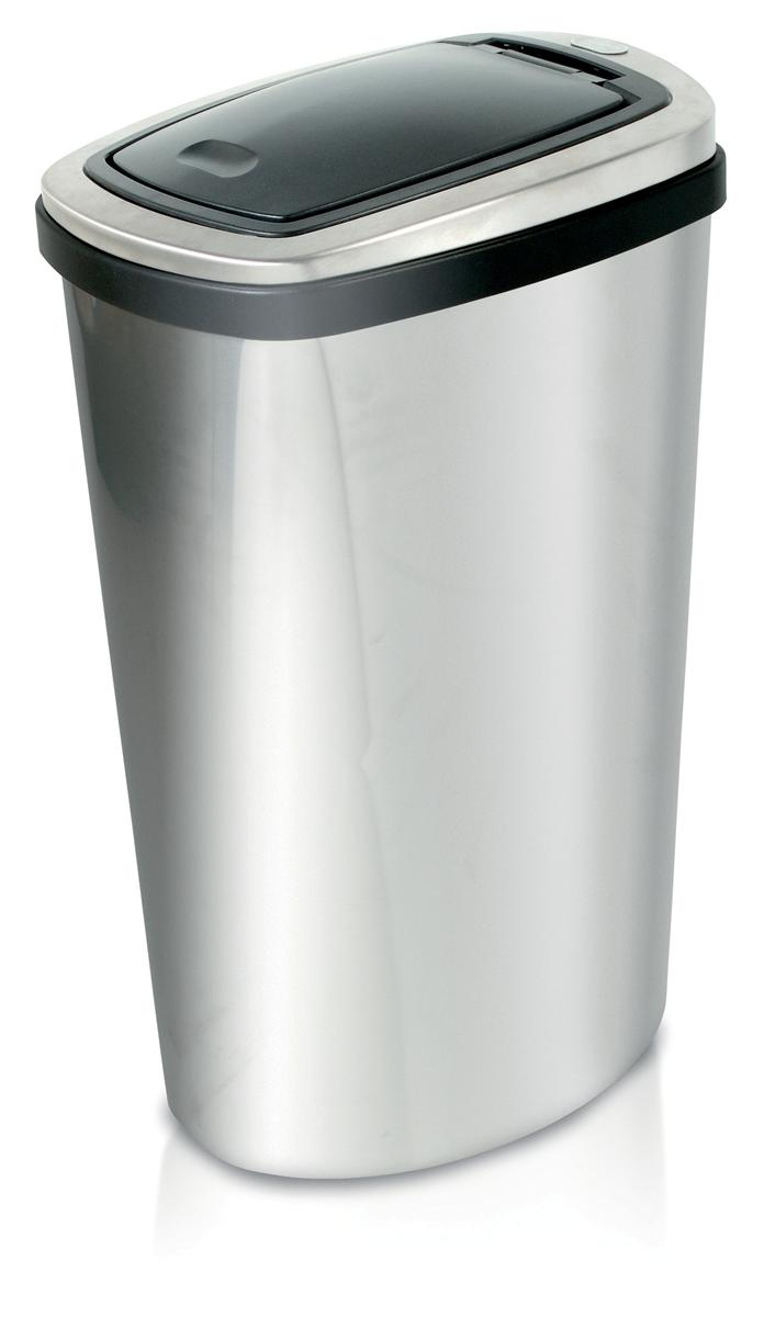 Image for Press Top Bin with Inner Liner 40 Litre Stainless Steel