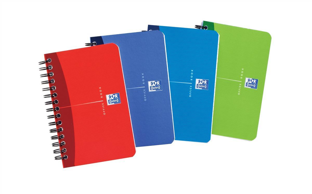 Oxford Office Notebook Wirebound 180pp 90gsm 90x140mm Random Colour Ref 400005630 [Pack 10]