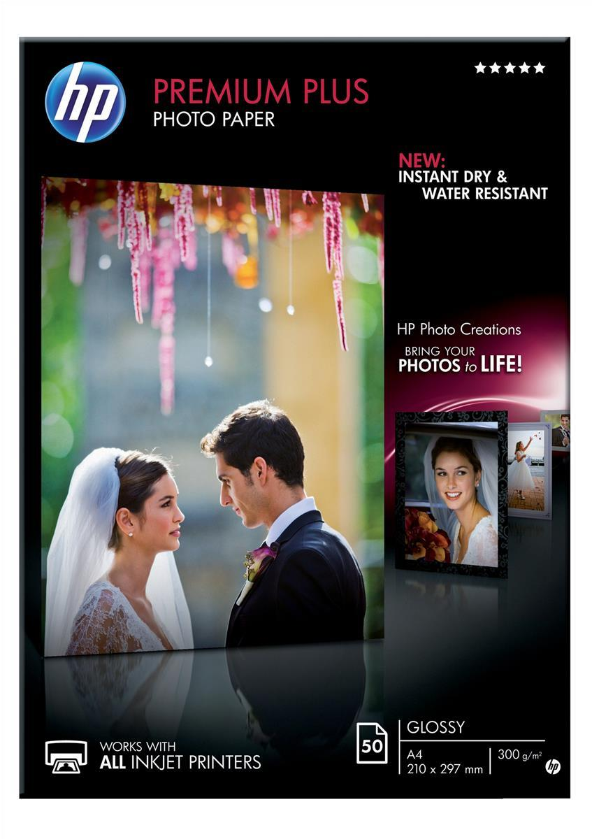 Image for Hewlett Packard [HP] Premium Plus Photo Paper Glossy 300gsm A4 Ref CR674A [50 Sheets]