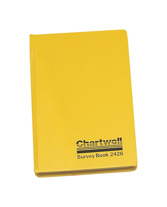 Image for Chartwell Survey Book Level Collimation Weather Resistant Side Opening 80 Leaf 192x120mm Ref 2426Z