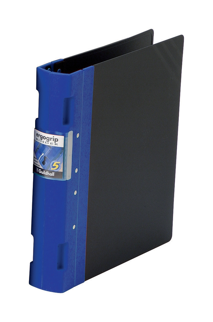 Image for Guildhall GLX Ergogrip Binder Capacity 400 Sheets 4x 2 Prong 55mm A4 Blue Ref 4532Z [Pack 2]