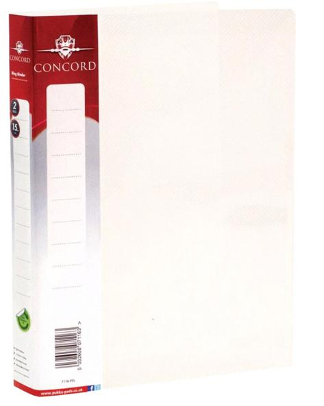 Image for Concord Natural Ring BInder Polypropylene 2 O-Ring 15mm Size A5 Clear Ref 7116-PFL [Pack 10]