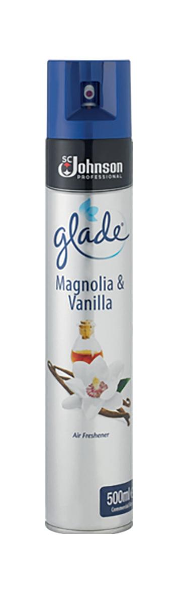 Glade Air Freshener Aerosol Spray Can Vanilla & Magnolia 500ml Ref 71225