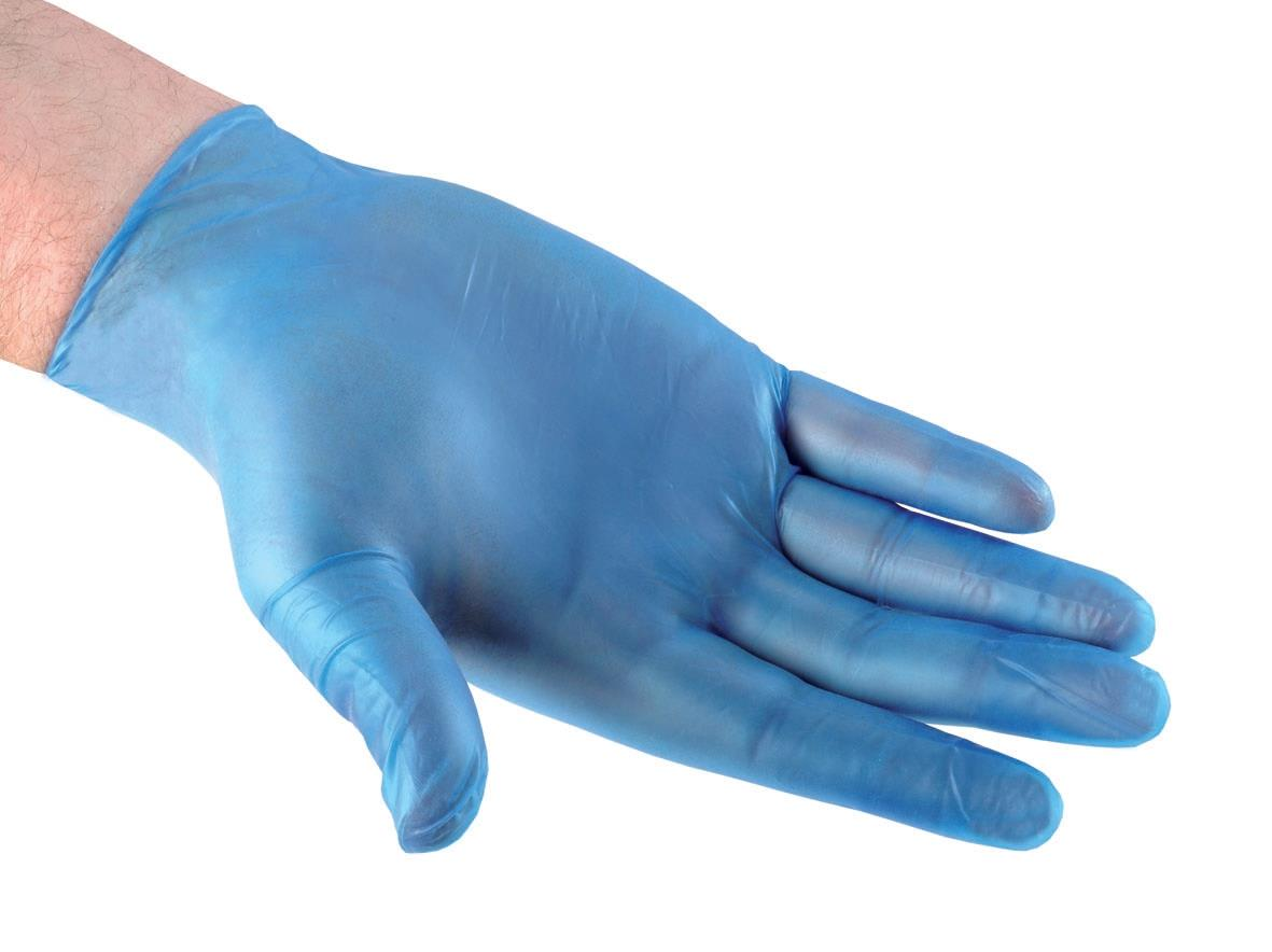Vinyl Gloves Powdered Large Blue [50 Pairs]