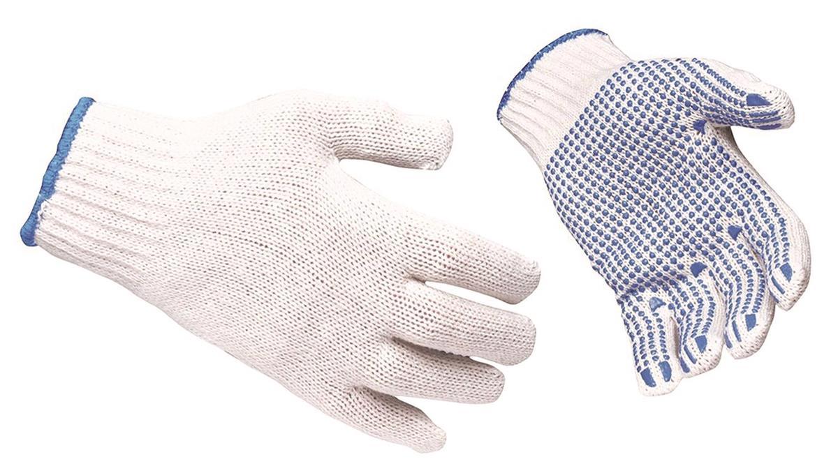 Polka Dot Gloves EN420 & EN388 Certification Large Blue Large [12 Pairs]