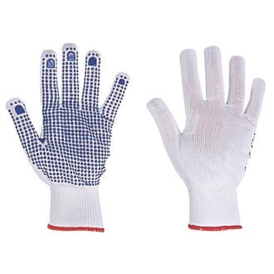 Polka Dot Gloves EN420 & EN388 Certification Medium Blue Medium [12 Pairs]