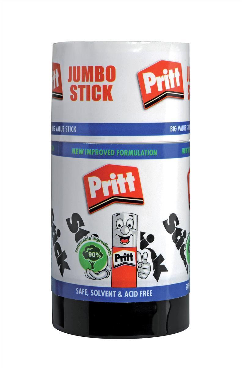 Pritt Stick Glue Solid Washable Non-toxic Jumbo 95g Ref 45552966 [Pack 6]
