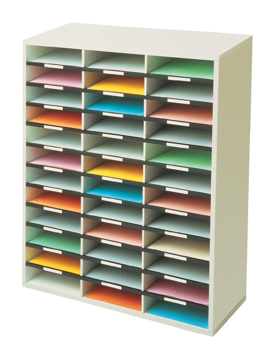 Image for Fellowes Literature Sorter Melamine-laminated Shell 36 Compartments W737xD302xH881mm
