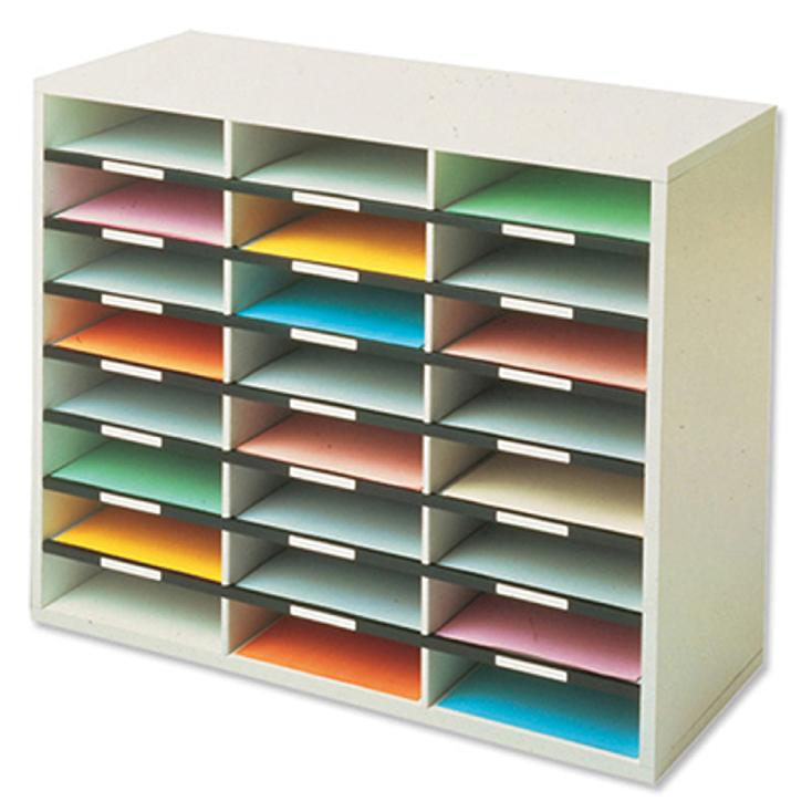 Image for Fellowes Literature Sorter Melamine-laminated Shell 24 Compartments W737xD302xH594mm