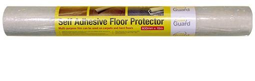 Image for COBA Guard Uni Flooring Protector Polyethylene Self-adhesive W600mmxL10m Transparent Ref CGU00001