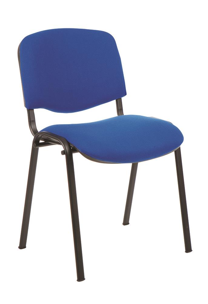 Trexus Stacking Chair Stackable Pre-assembled Fabric Blue