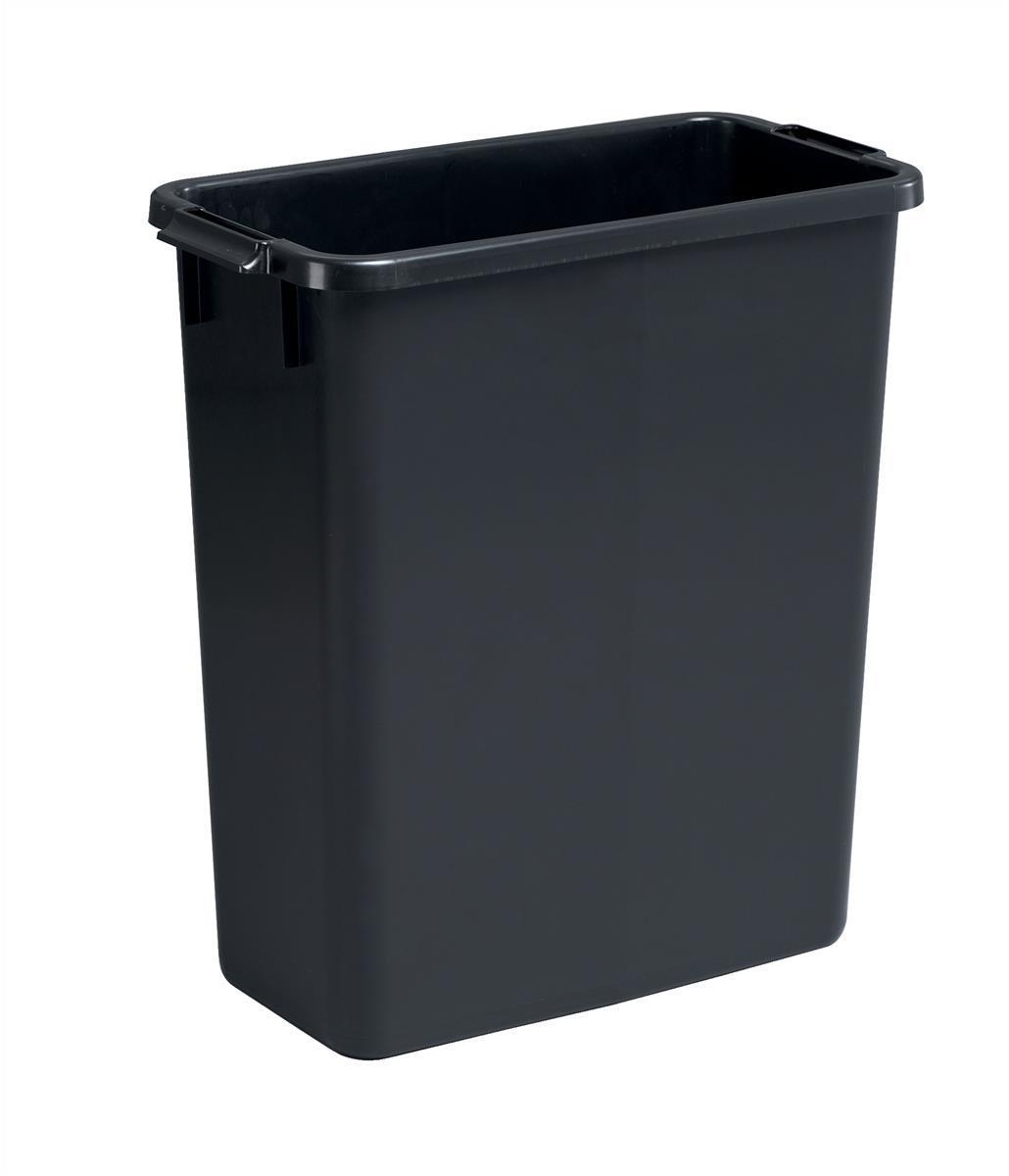 Image for Durable Durabin Slim Bin 60 Litres Black Ref S10496221 Ref 1800496221