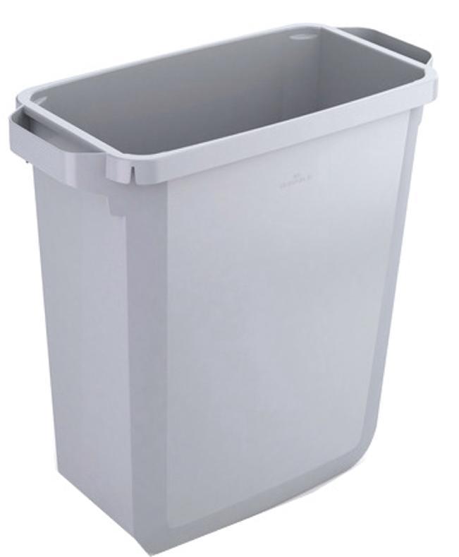 Image for Durable Durabin Slim Bin 60 Litres Grey Ref S10496050 Ref 1800496050