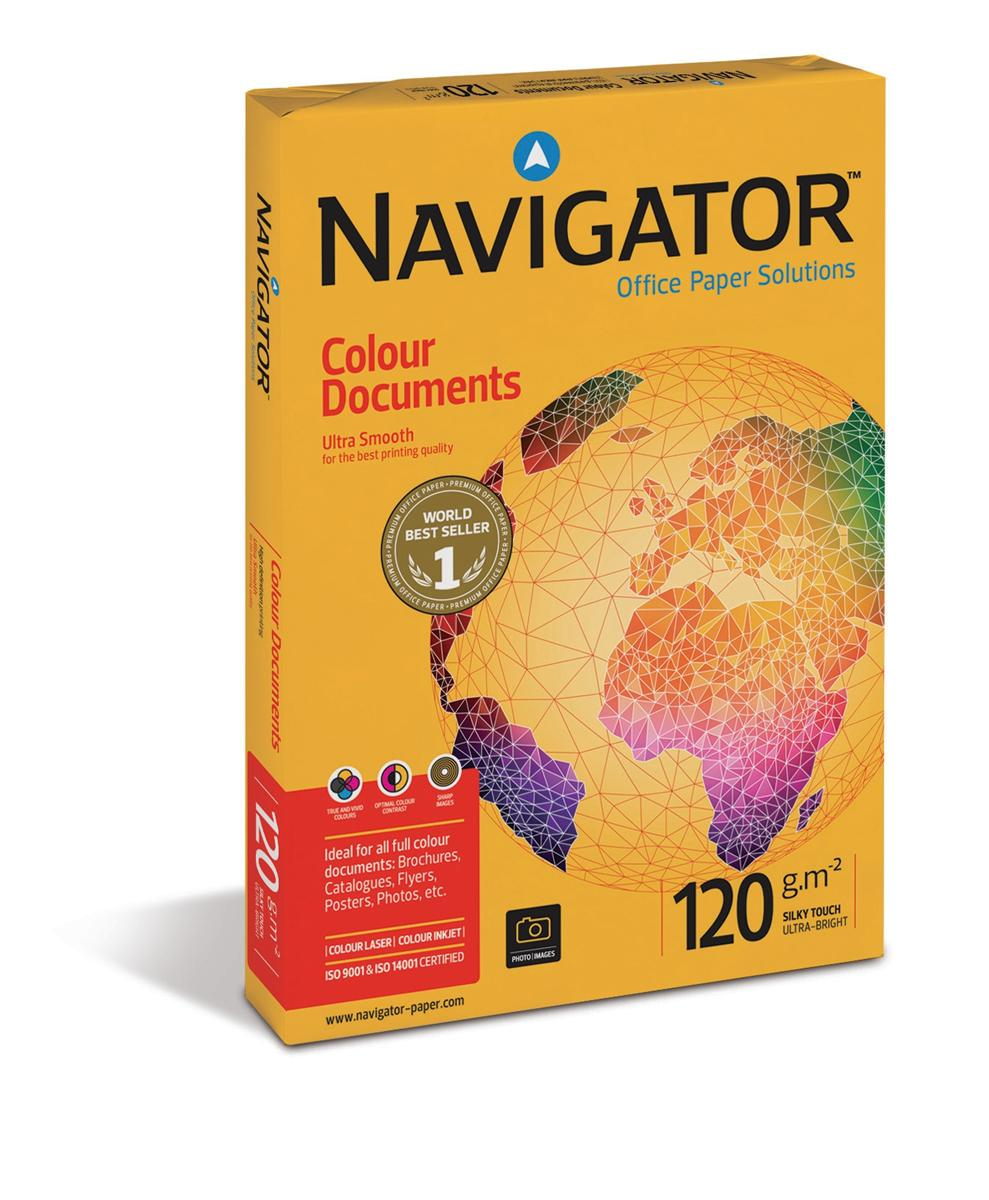 Image for Navigator Colour Documents Paper Ultra Smooth Ream-Wrapped 120gsm A3 White Ref NCD1200017 [500 Sheets]