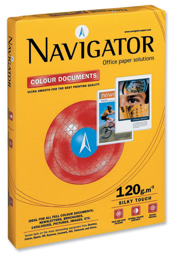 Image for Navigator Colour Documents Paper Ultra Smooth 120gsm A4 White Ref NCD1200009 [250 Sheets]