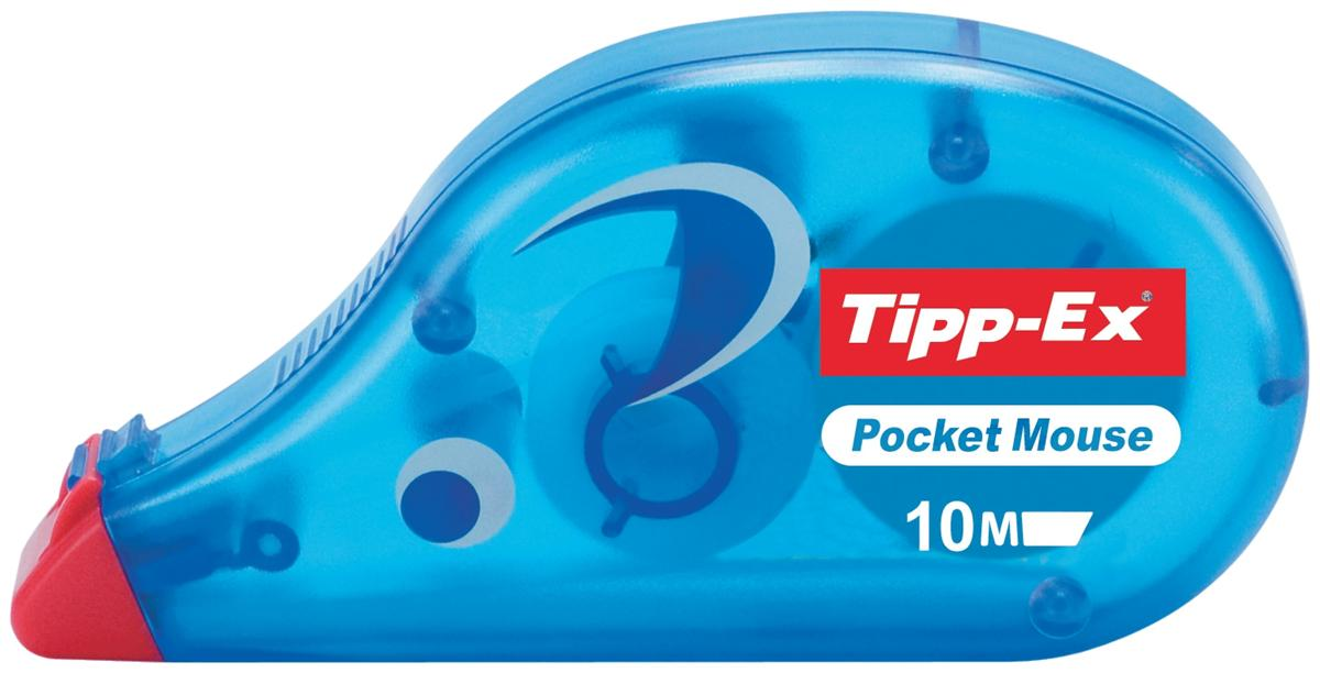 Image for Tipp-Ex Pocket Mouse Correction Tape Roller Disposable 4.2mmx9m Ref 8207891 [Pack 10]