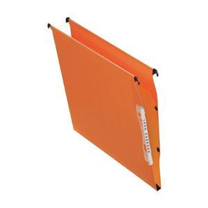 Image for Bantex Linking Lateral File Kraft 210gsm Square-base 30mm Capacity W330mm Orange Ref 100330744 [Pack 25]