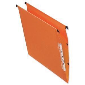 Image for Bantex Linking Lateral File Kraft 210gsm V-base W330mm Orange Ref 100330742 [Pack 25]